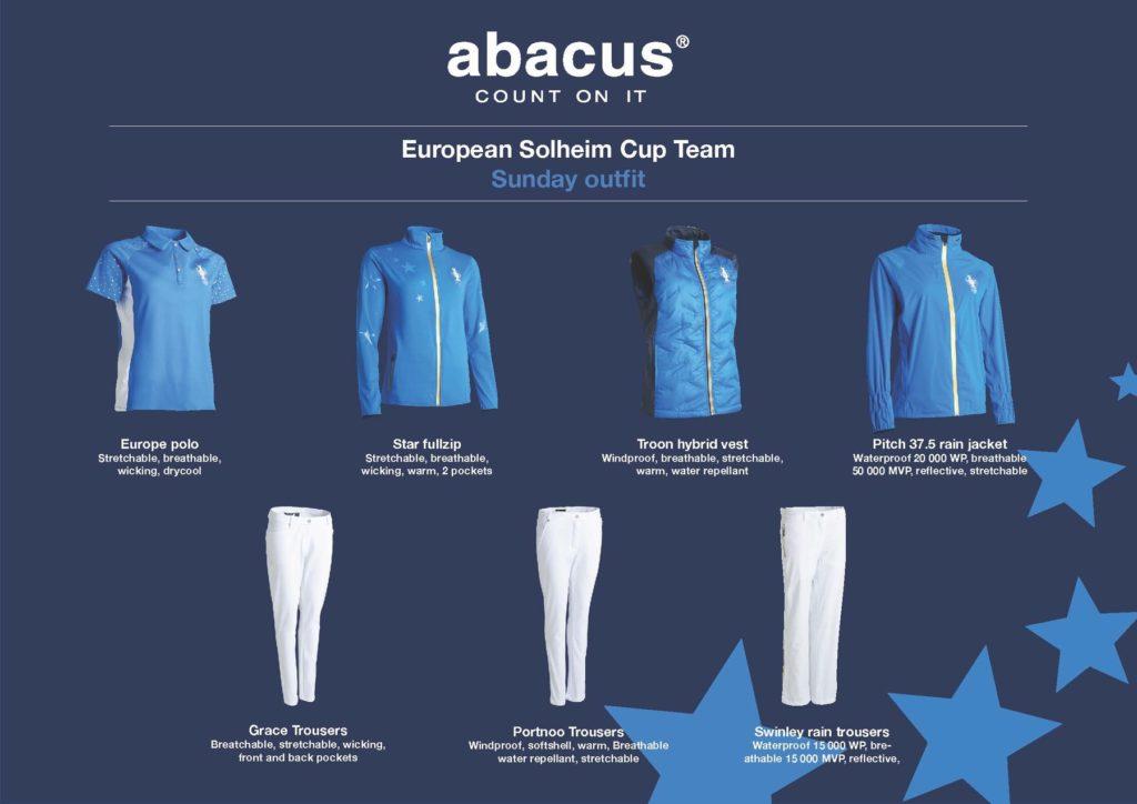 Golf Business News - Abacus reveals Team Europe's Sunday