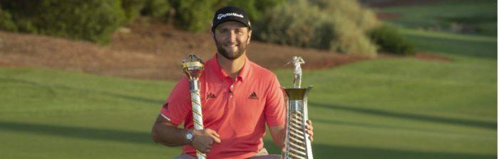 John Rahm winner of two trophiesJPG