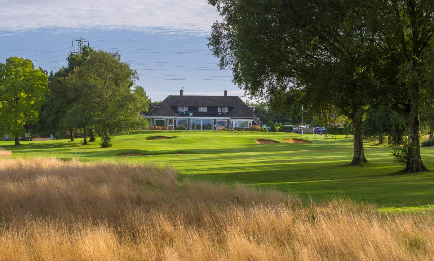 The clubhouse modat Canterbury Golf Club (Credit Andy Hiseman)