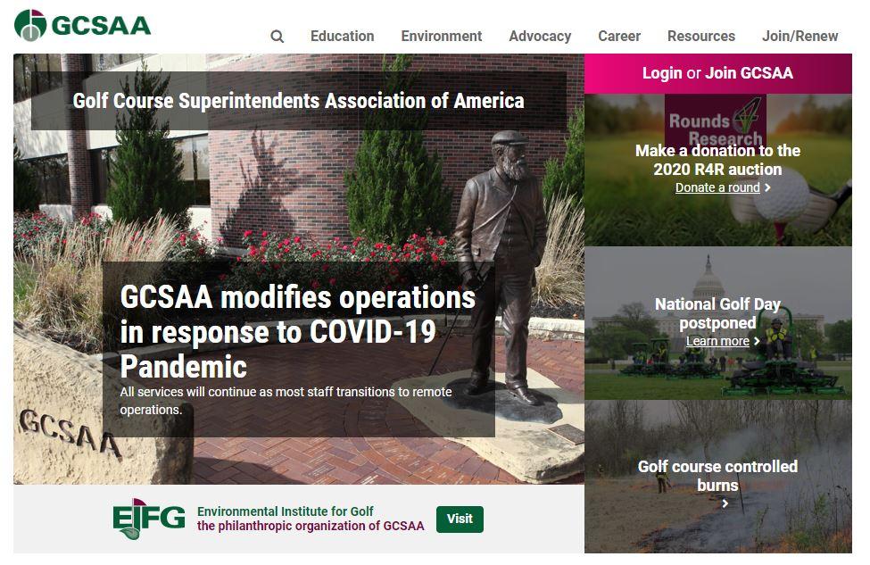 GCSAA Covid header