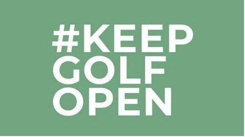 Keep Golf Open Petition header