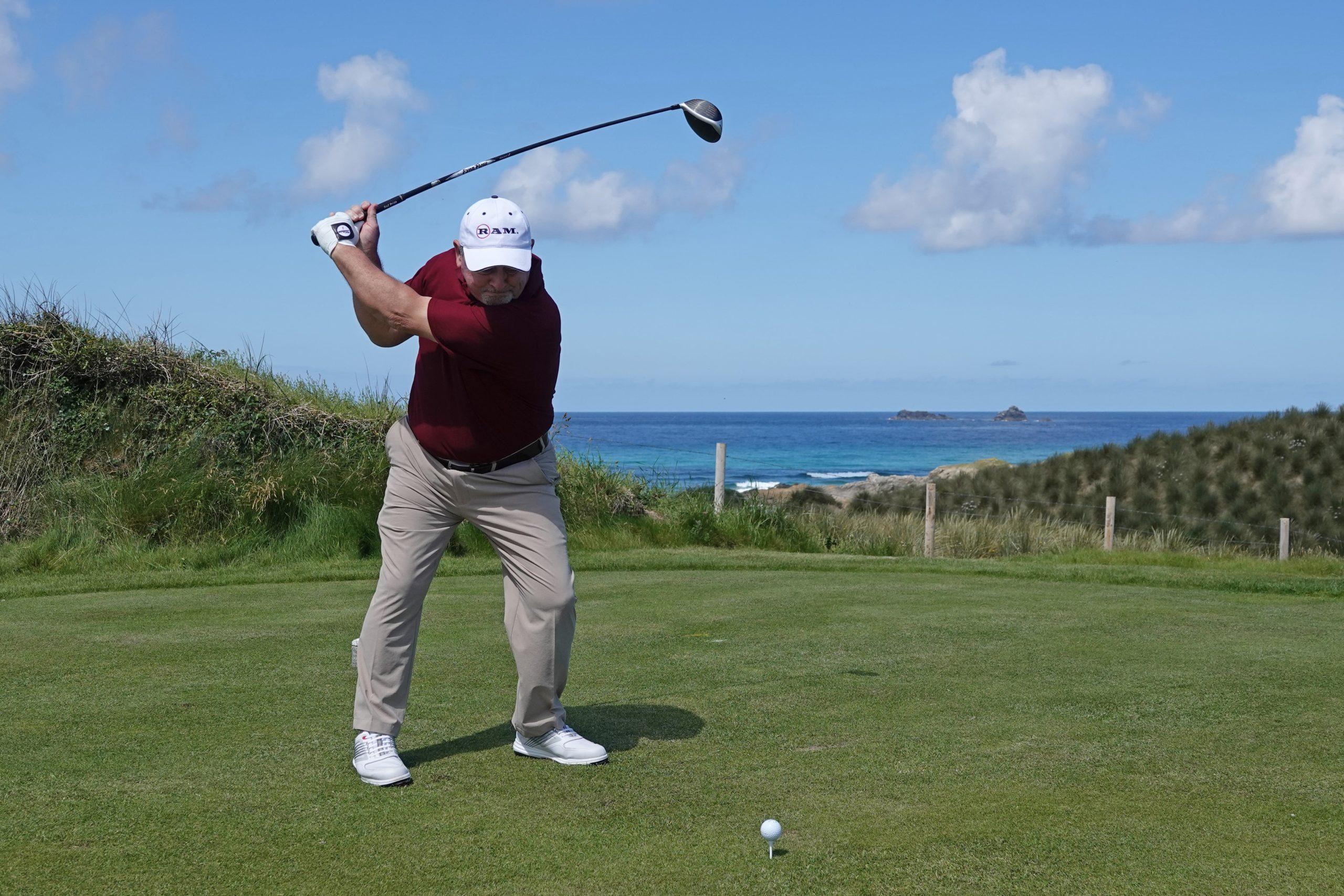 Golfing Legend Ian Woosnam OBE teeing off the 4th-min