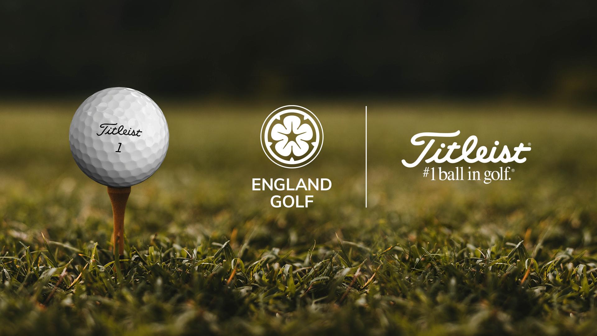 England Golf will partner with Titleist until 2023