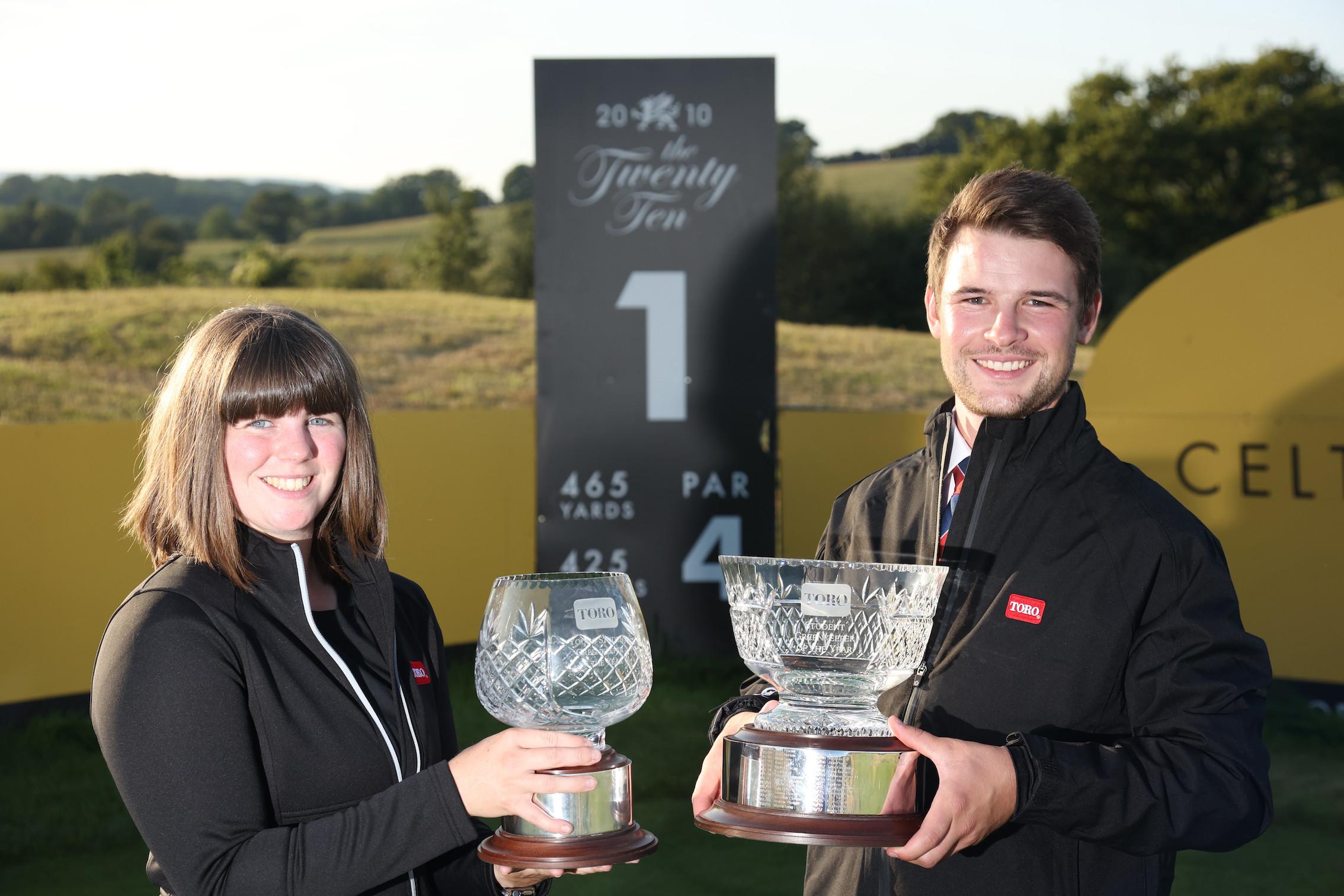 Award winners Rhian Barton and Matthew Milligan