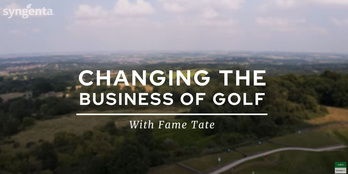 Changing the Business of Golf with Fame Tate header.