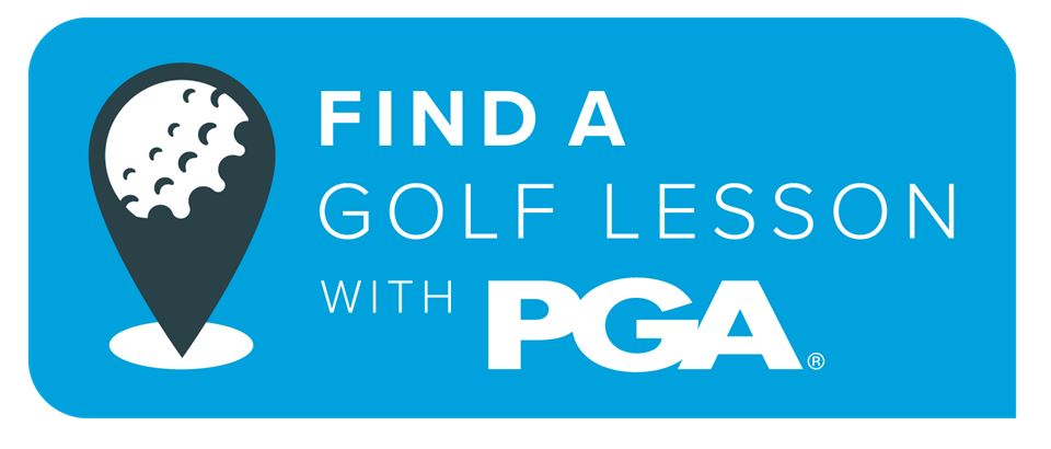 Find a golf Lesson graphic