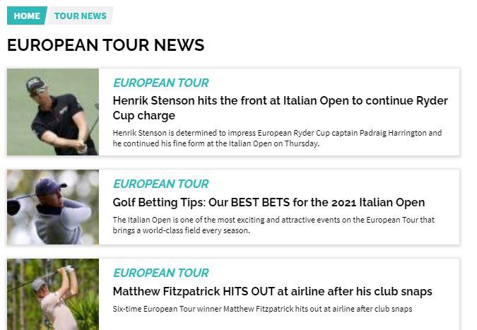 Golf Magic Tour News